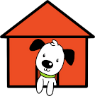 The Canine Creche logo kennel only.